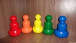 Набор-игра Куклы в стаканчике (10 деталей). Игрушка по методике Монтессори