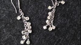 Свадебные серьги (серьги для невесты, праздничные) ′Emma′