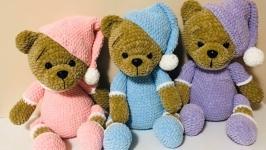 Handmade crohet teddy bear