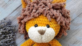 Crocheted Lion