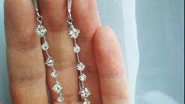 Свадебные серьги (серьги для невесты, праздничные) ′Verona′