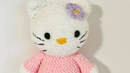 Hello Kitty crocheted toy