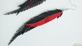 Кожаные серьги-перья ′Elza′