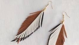 Кожаные серьги-перья ′Zara′