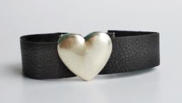 Кожаный браслет ′BigHeart′