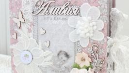 Альбом ручной работы для новорожденной девочки