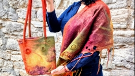 Яркий комплект бактус и сумка