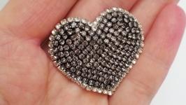 Брошь (брелок на сумочку) ′GrayHeart′