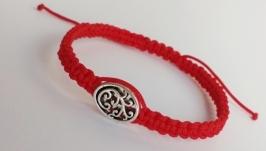 Плетеный браслет-оберег (красная нитка) ′Pattern′