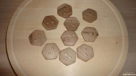 10 штук Пуговица из дерева Шестиугольник