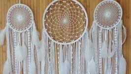Ловец снов комплект 3шт, свадебные ловцы снов, белые ловцы снов.