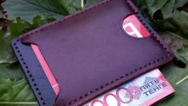 Компактный кожаный кошелёк кардхолдер