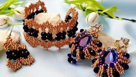 Evening jewelry - earrings and bracelet