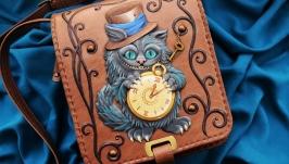 Кожаная сумка ′ЧЕШИРСКИЙ КОТ′