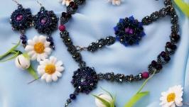 Evening jewelry set ′pink dreams′