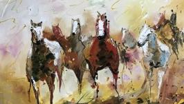 Абстракция,арт «Лошади»