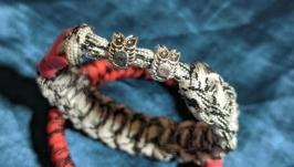 Мужской браслет , браслет из паракорда , плетеный браслет , подарок парню