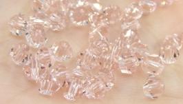 Биконусы 10 шт хрустальные бусины 4х3.5 мм светлый лососевый розовый