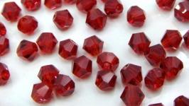 Биконусы 10 шт хрустальные бусины 4х3.5 мм красный рубиновый
