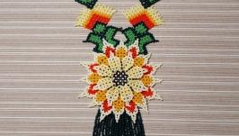 тут изображено 1. Колье ′Уичольский цветок′
