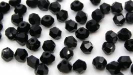 Биконусы 10 шт хрустальные бусины 4.5х3.5 мм черный
