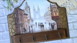 Панно-ключница  ′Старый город′