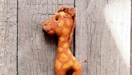 інтер′єрна текстильна іграшка жираф