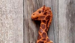 Текстильна іграшка для дитячої кімнати Жирафік