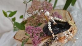 Подвеска - куколка из натурального жемчуга на цепочке ′Мэри Поппинс′