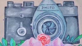 Картина фотоаппарат