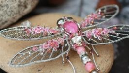 Брошь ′Розовая Стрекоза′