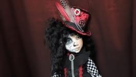текстильная будуарная кукла Лейла