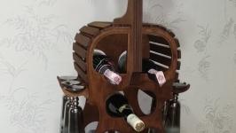 Мини-бар, Подставка для вина с держателями бокалов ′Виолончель′