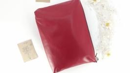 Яркая повседневная кожаная сумка ′Соль′ (красный)