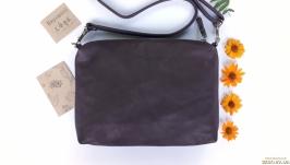 Повседневная кожаная сумка ′Соль′ (коричневый)