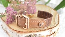 Браслет кожаный коричневый  ′Ремешок′