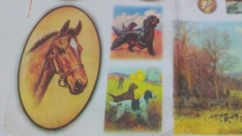 Decoupage card on rice paper Stamperia №2