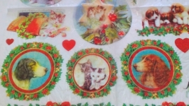 Decoupage card on rice paper Stamperia №4