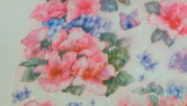 Decoupage card on rice paper Stamperia №9