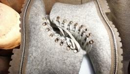 Женские ботинки из шерсти
