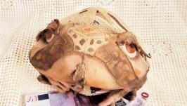 Денежная Жаба из хлопка и жаккардовой ткани