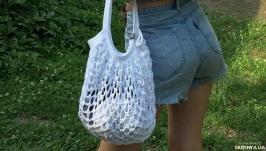 Авоська сумка шоппер карамелька