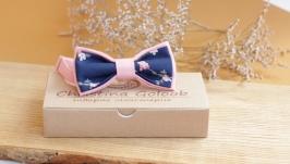 Бабочка пудровая с синим ′Romantik′.