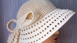 Летняя шляпка с бантом