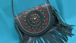 Кожаная сумка ′ФЛОРА′