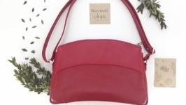 Женская сумка из натуральной кожи ′Можжевельник′ (красный)