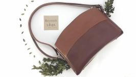 Женская сумка из натуральной кожи ′Можжевельник′ (коричневый)