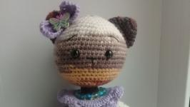 Мягкая игрушка. Кошечка красавица. Вязание.