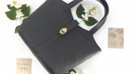 Классическая женская сумка из натуральной кожи ′Жасмин′ (серый)