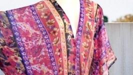 Туника, платье с бахромой свободного кроя, оверсайз, на все размеры